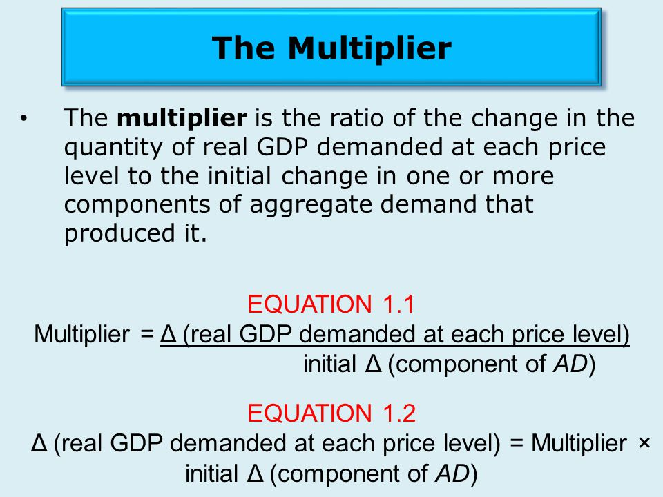 The Multiplier EQUATION 1.1