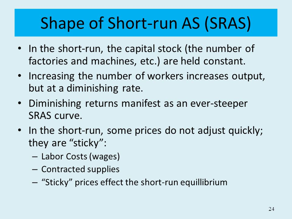 Shape of Short-run AS (SRAS)