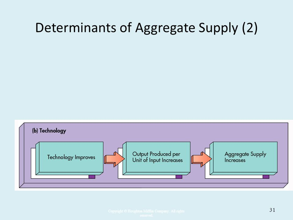 Determinants of Aggregate Supply (2)