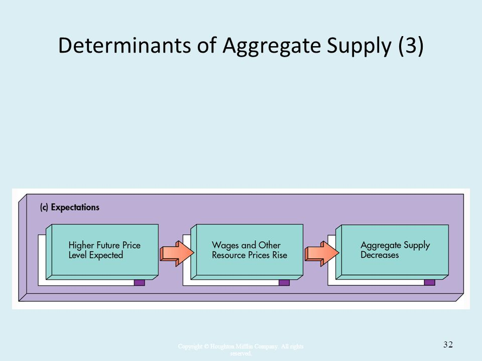 Determinants of Aggregate Supply (3)