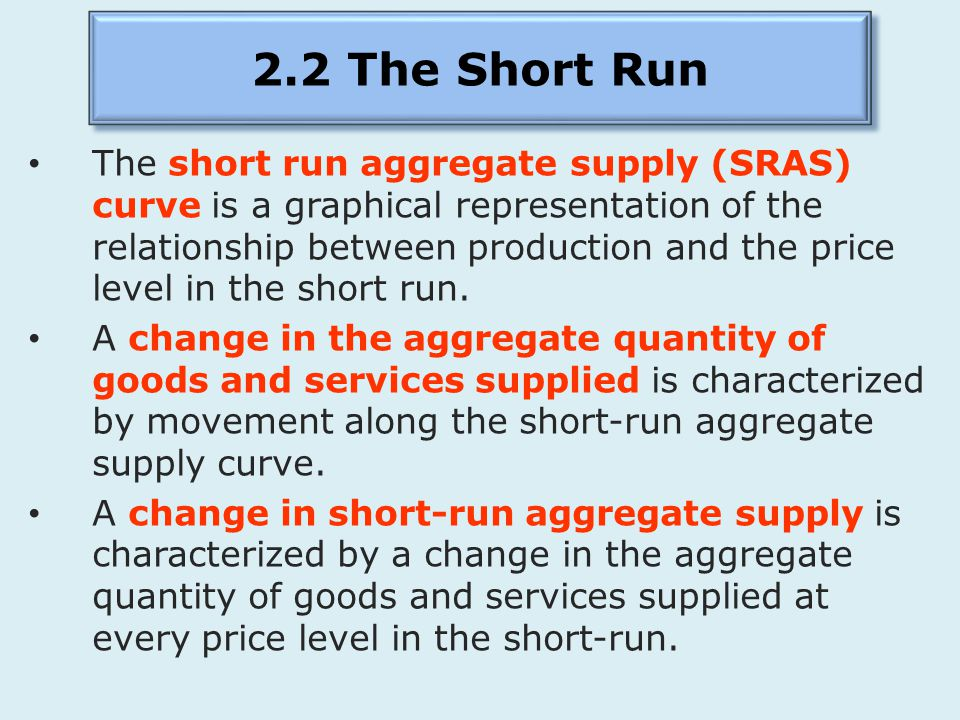 2.2 The Short Run