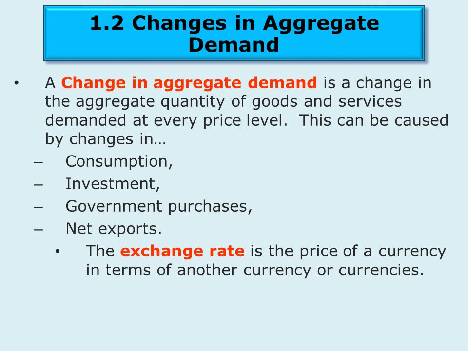 1.2 Changes in Aggregate Demand