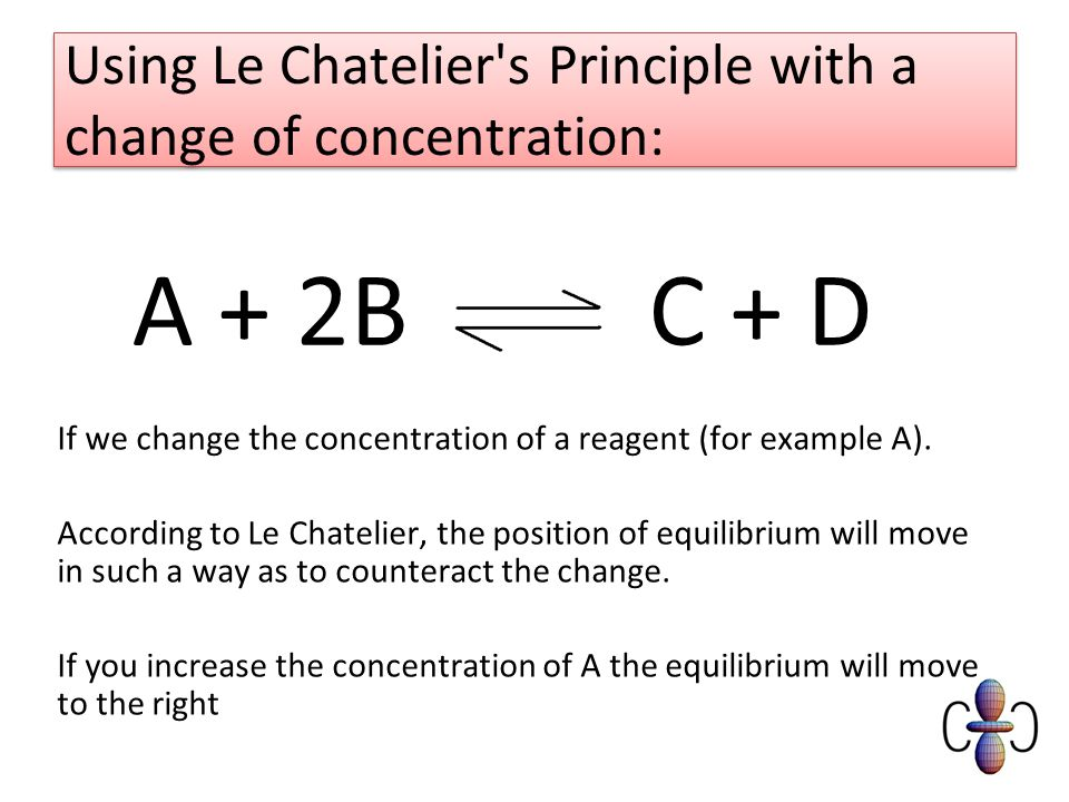 le chateliers principle and chemical equilibrium Le chatelier's attention then turned to the question of how to apply the science of chemical thermodynamics to the development of industrial processes he suggested increasing the output of industrial ammonia production by using low heat and high pressure, as indicated by his principle of chemical equilibrium similarly.