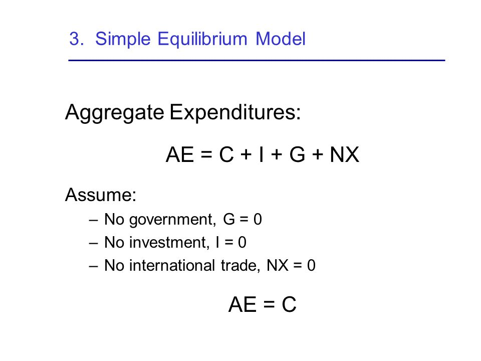 3. Simple Equilibrium Model