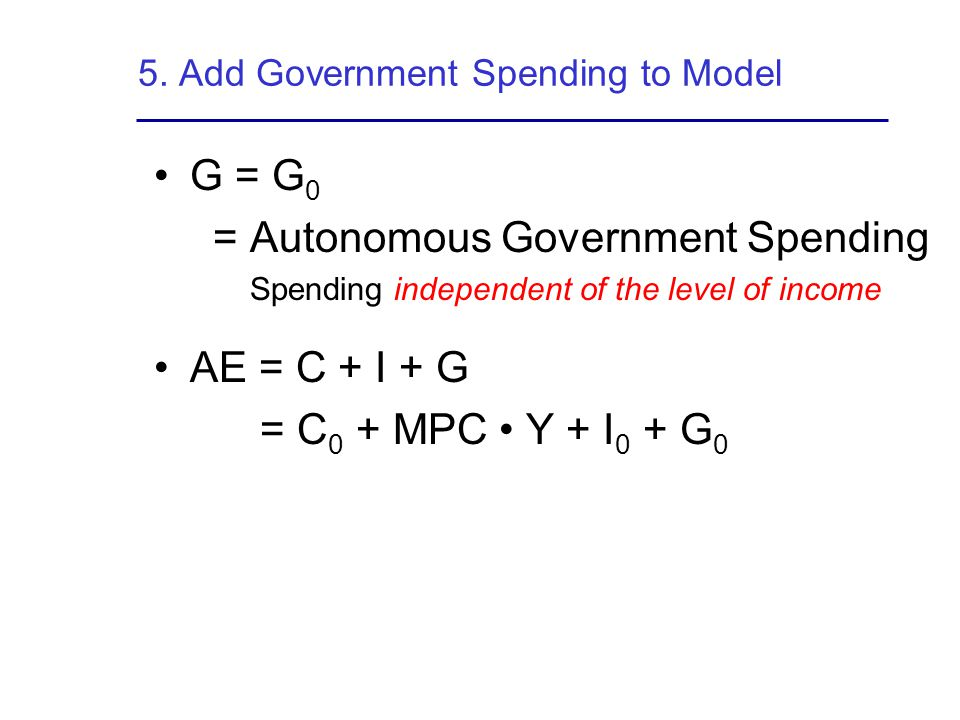 5. Add Government Spending to Model