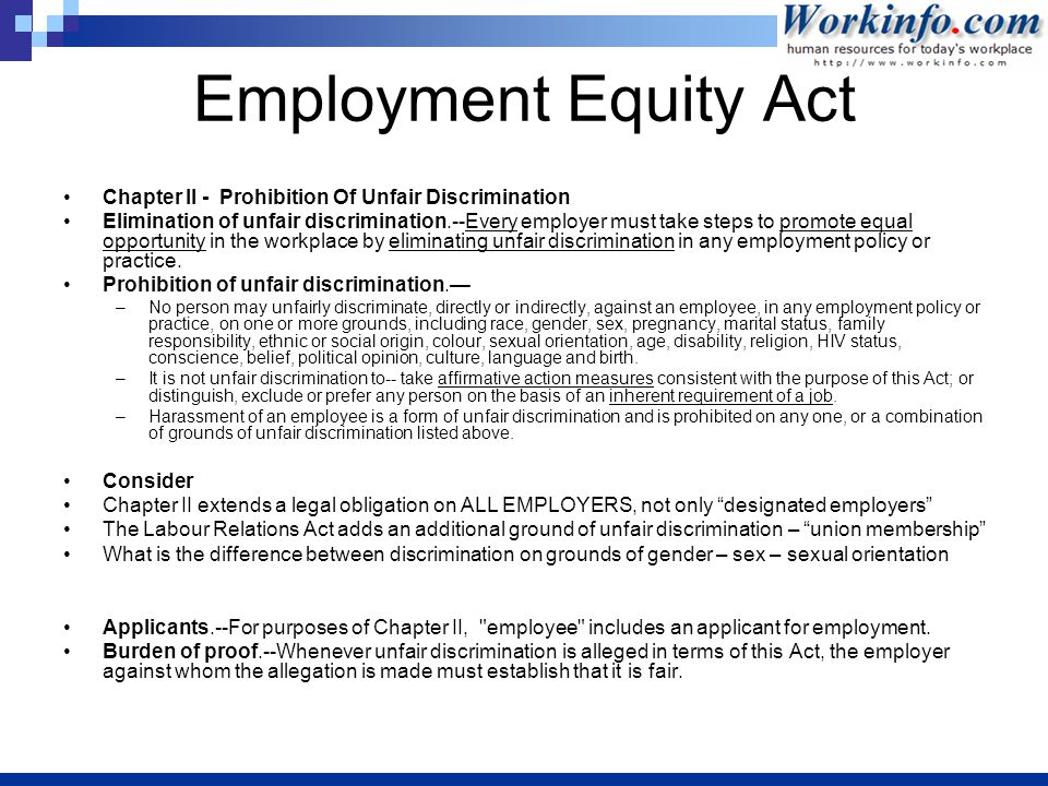 affirmative action elimination of discrimination in the workplace Lee#1# affirmative action: the end of discrimination affirmative action both supported and opposed as an answer to racial inequality affirmative action is a topic that has been argued for many years now, we've battled with this.