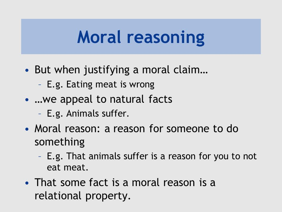facts not morals Do moral facts not require an explanation perhaps the central bone of contention in the moral argument for the existence of god is the claim that philosophical naturalism cannot provide a basis for moral facts, while theism can.