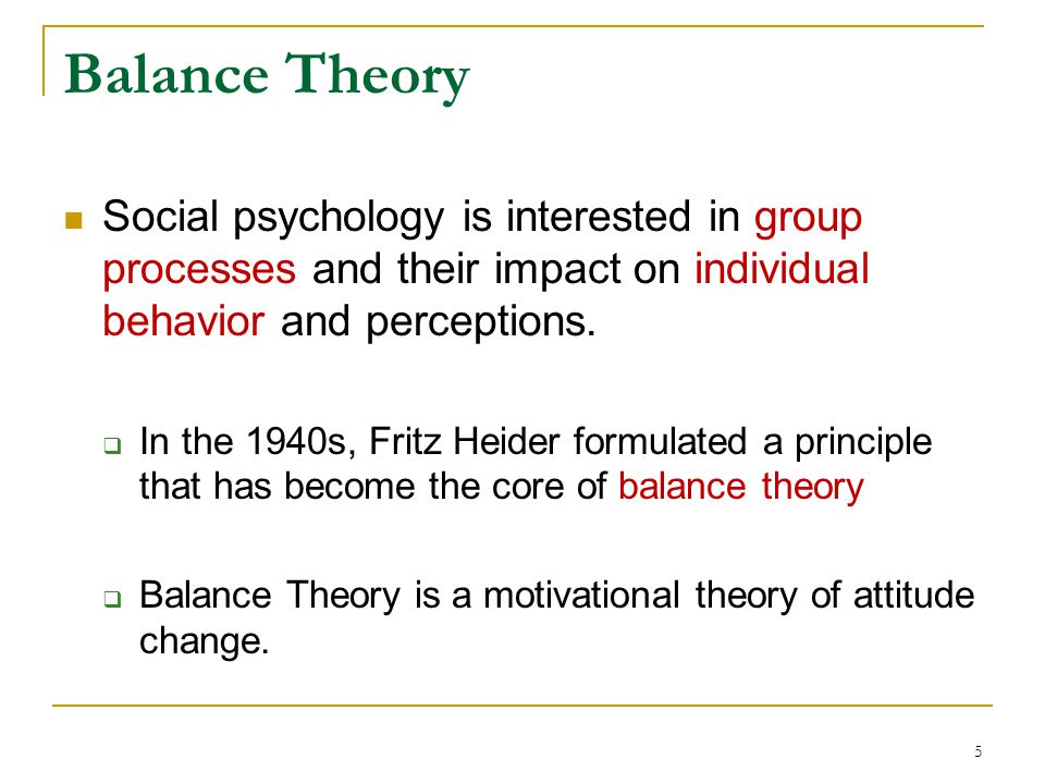 social psychology theories the impact of attitudes in society