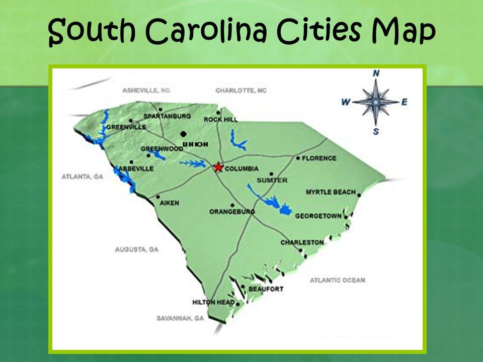 South Carolina Landform Regions And Facts About Landforms Ppt - South carolina cities map