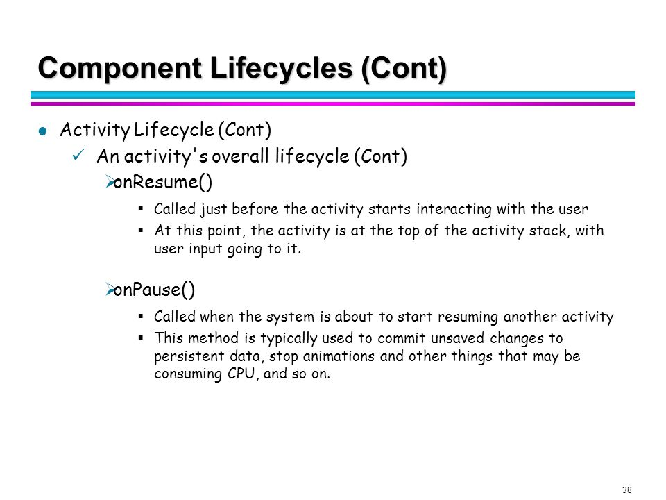 Android Activity Lifecycle   Are you on the go