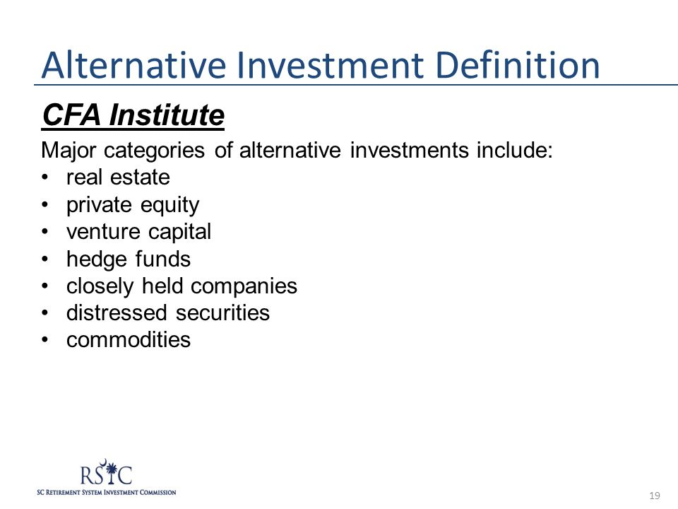 Alternative Investments for Private Wealth Advisors » CFA ...