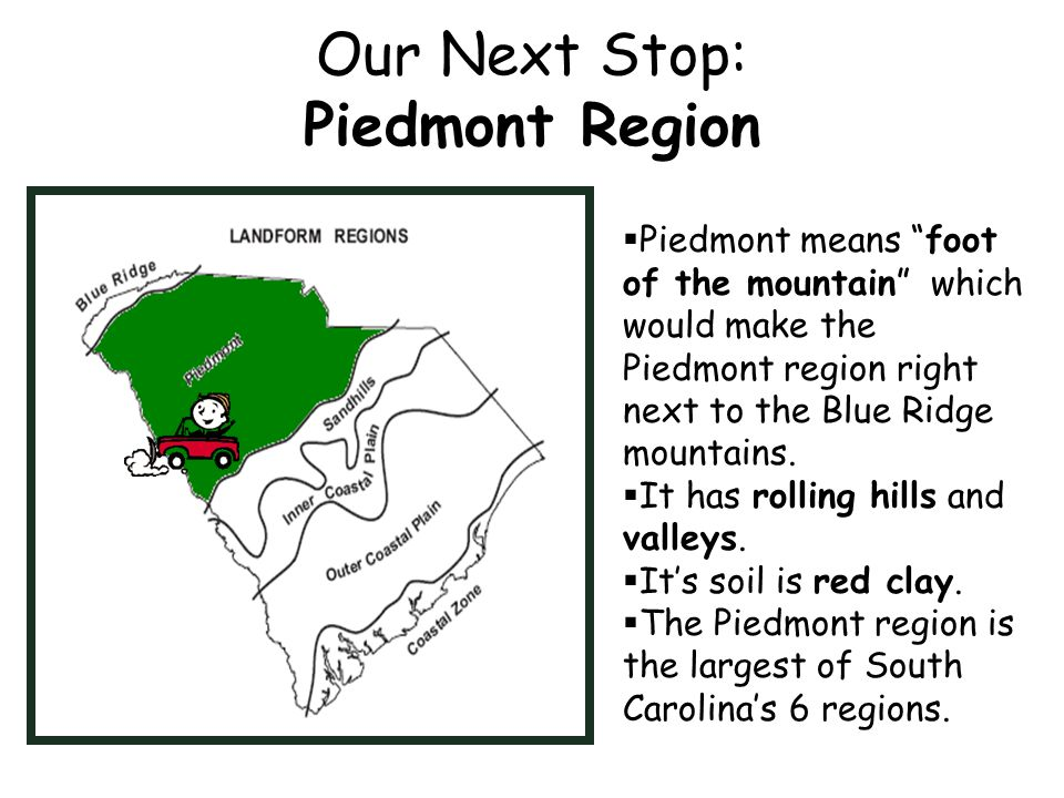 Let s travel through the regions of south carolina ppt for South carolina soil