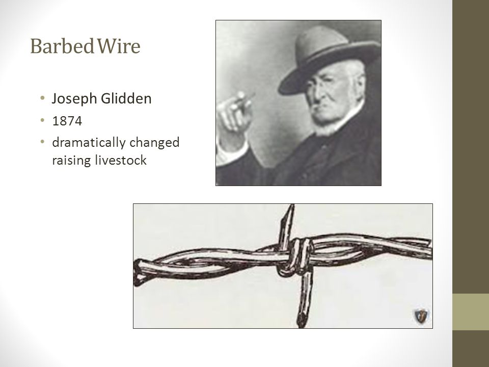Essential Standard 200 Understand global agriculture ppt video – Joseph Gidden Barbed Wire Diagram