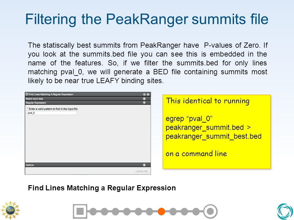 Filtering the PeakRanger summits file