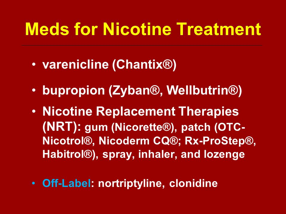 Wellbutrin Nicotine Patch