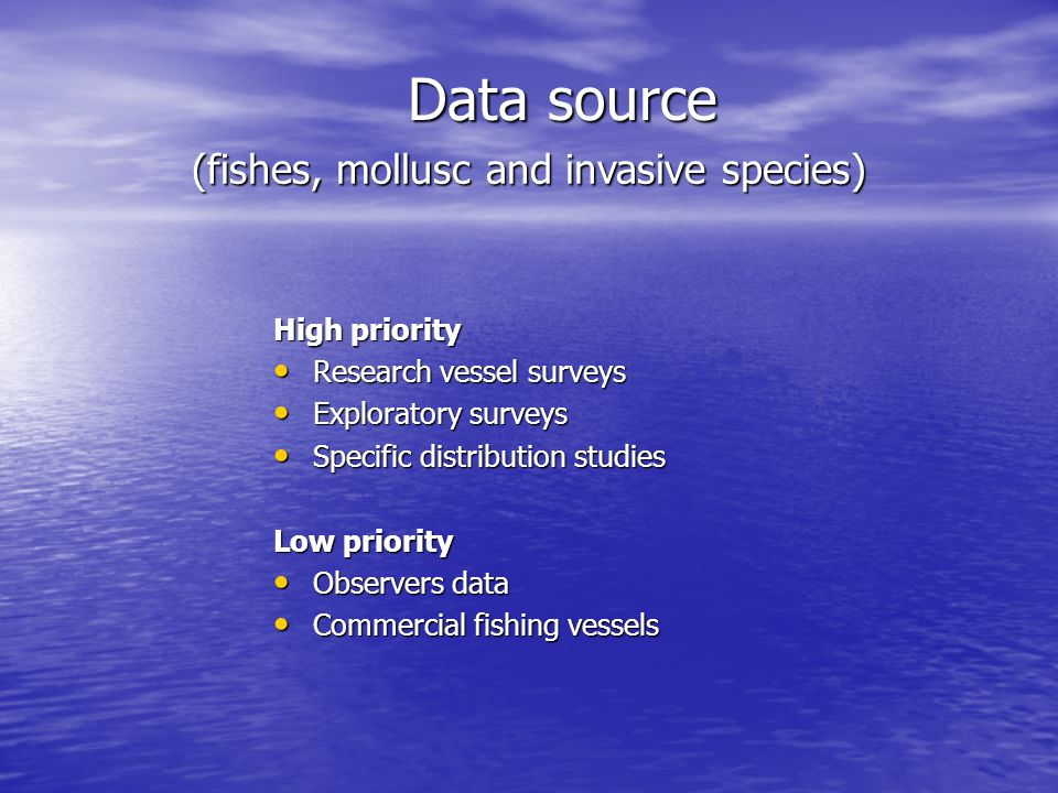 (fishes, mollusc and invasive species)