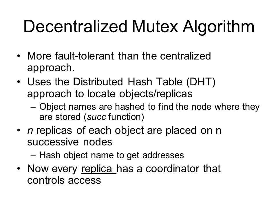 Decentralized Mutex Algorithm