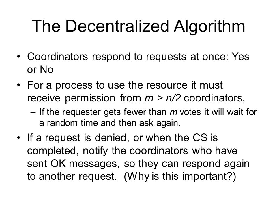 The Decentralized Algorithm