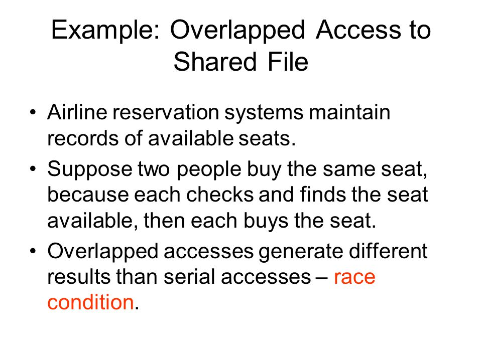 Example: Overlapped Access to Shared File