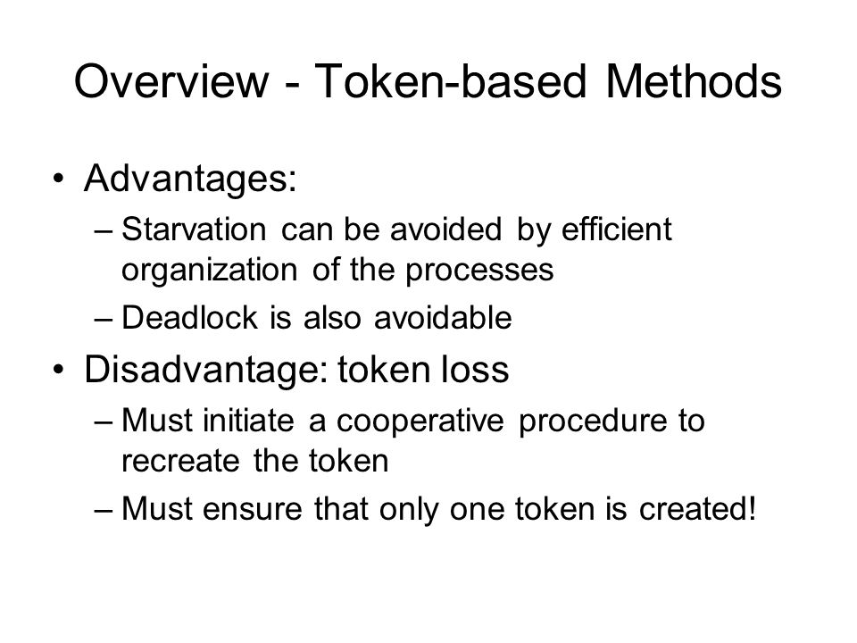 Overview - Token-based Methods