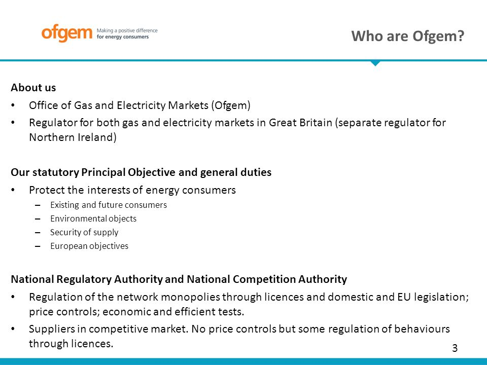a description of the office of gas and electricity markets ofgem Good energy is a british energy company based in chippenham, wiltshire that generates and purchases renewable electricity, and supplies electricity and gas to homes and businesses throughout the uk its ceo is juliet davenport.