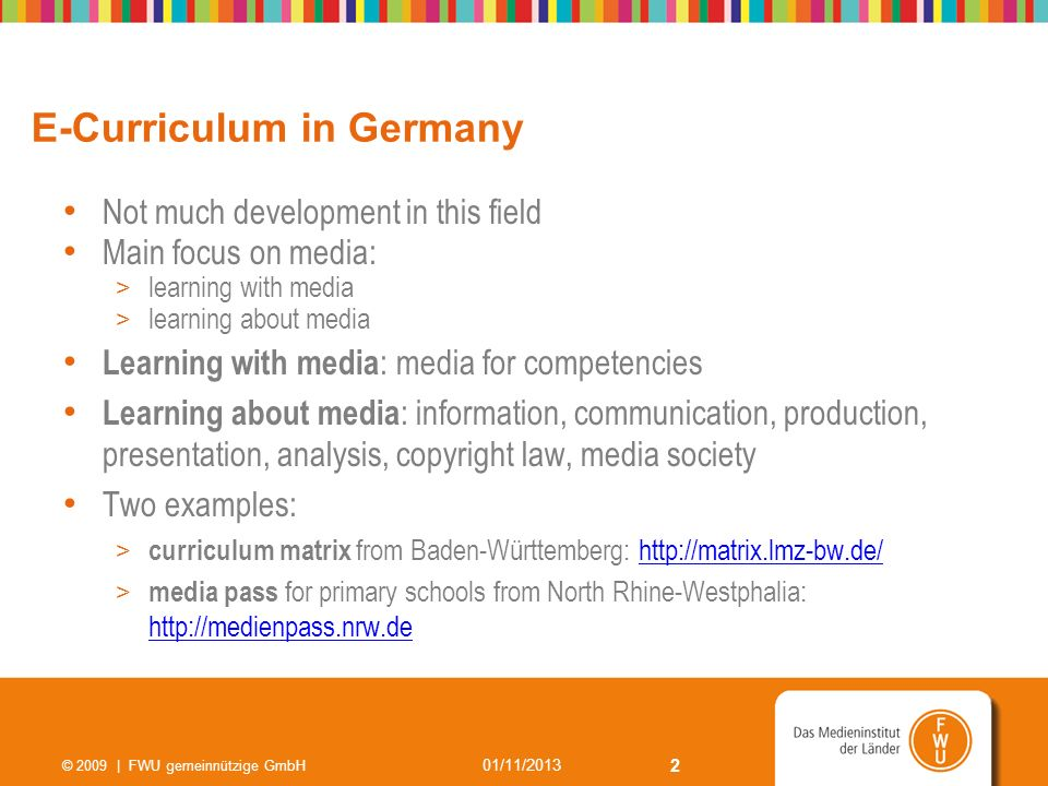 E-Curriculum in Germany