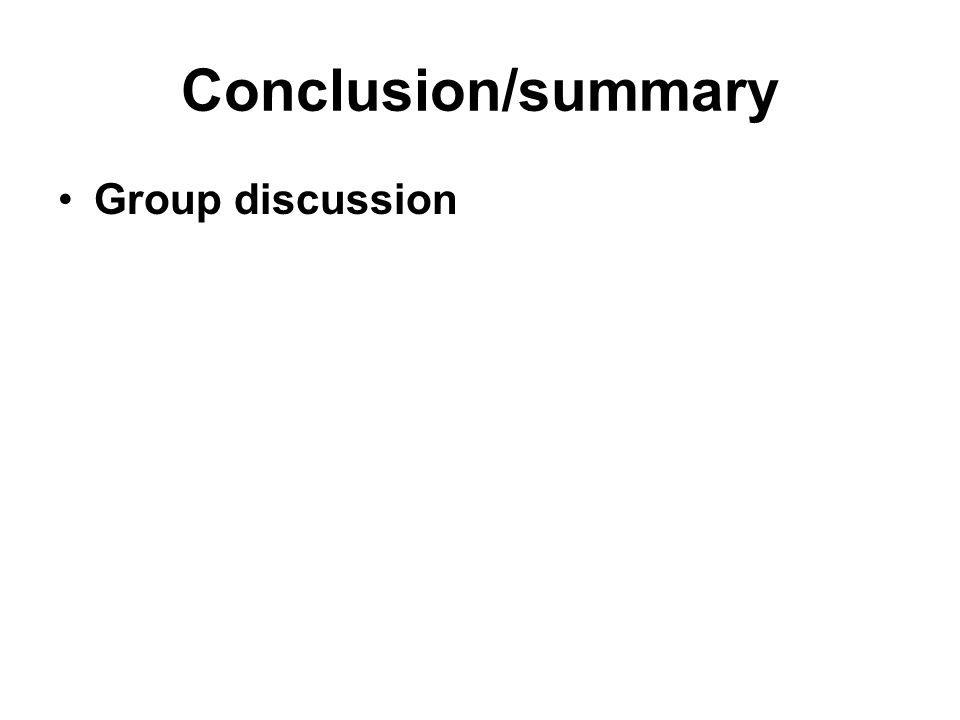how to write group discussion summary