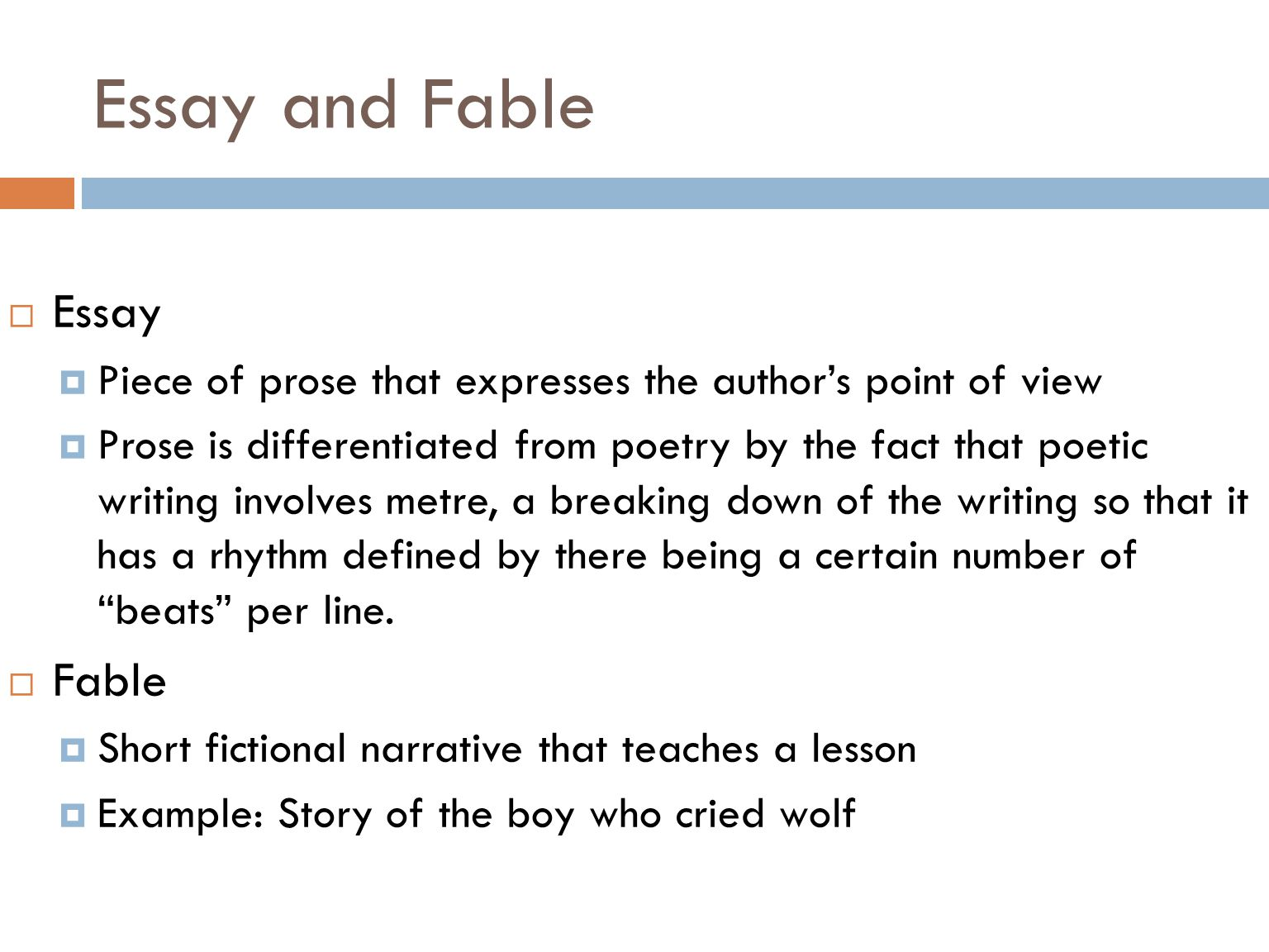 Personal Narrative Essay Definition