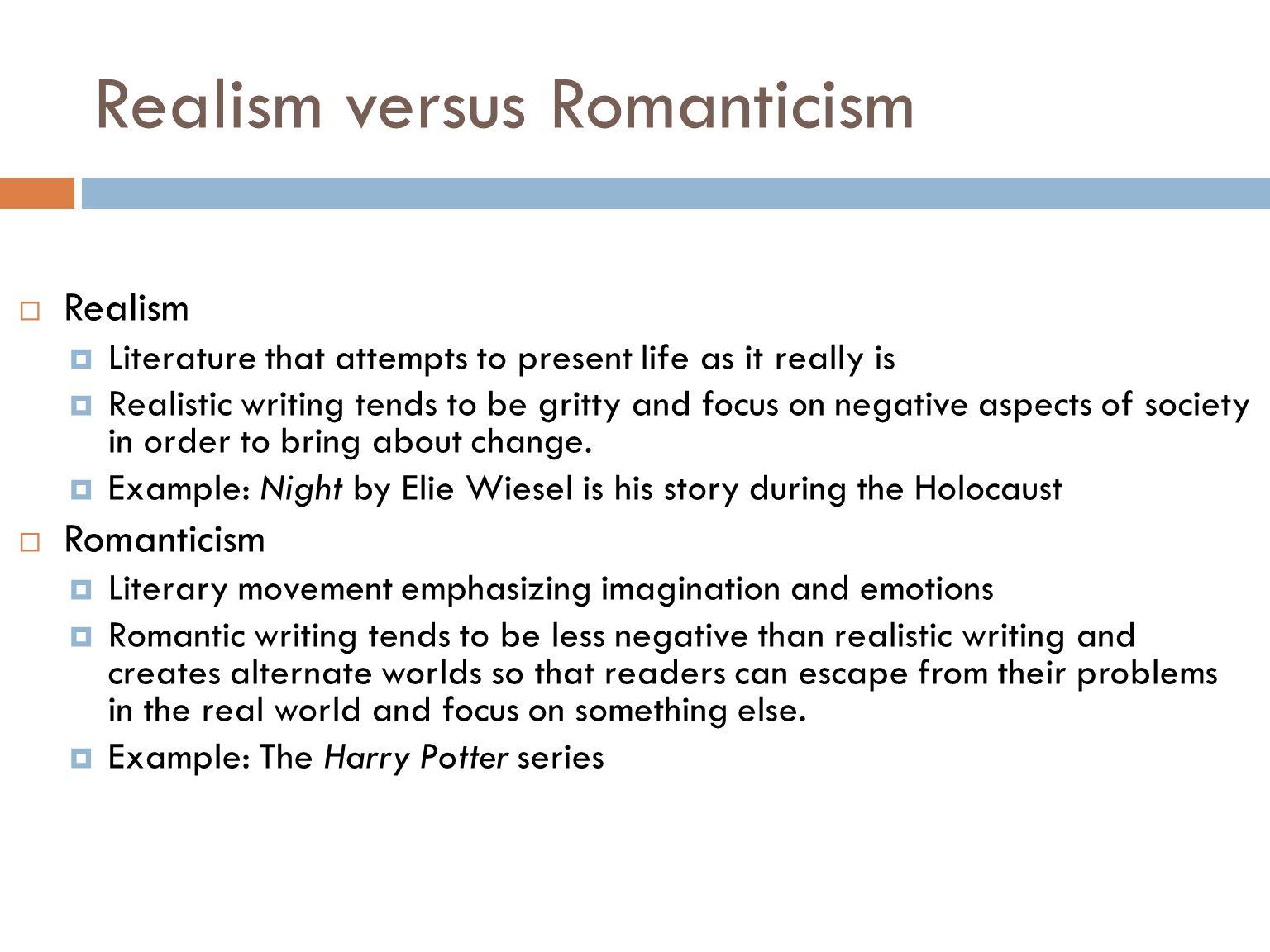 romanticism a literary movement