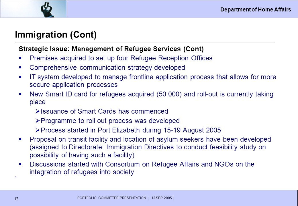 PRESENTATION TO THE PORTFOLIO COMMITTEE ON HOME AFFAIRS - ppt download