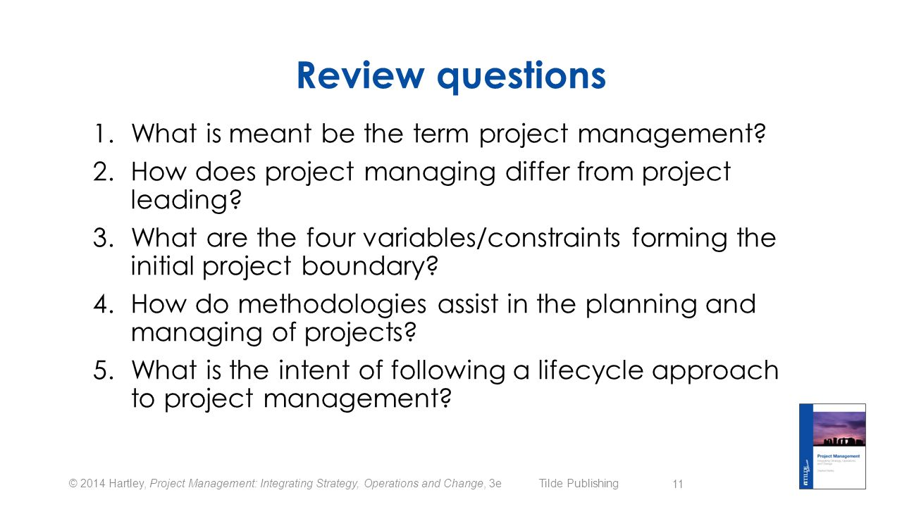 project management chapter 8 review questions Construction project management deals with different facets of construction management emphasizing the basic concepts that any review questions chapter 8.