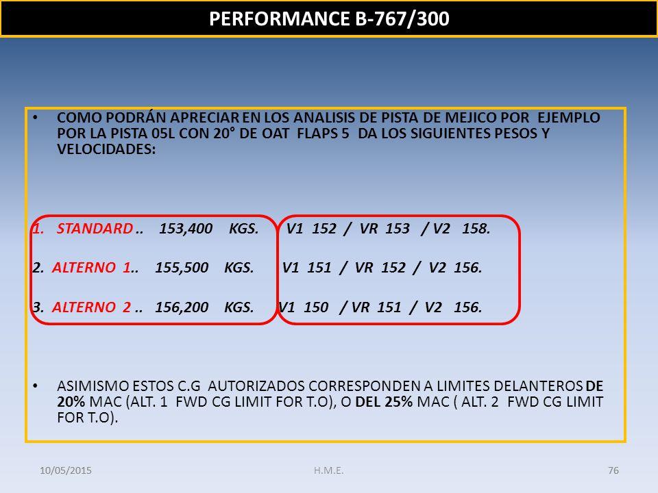 PERFORMANCE B-767/300