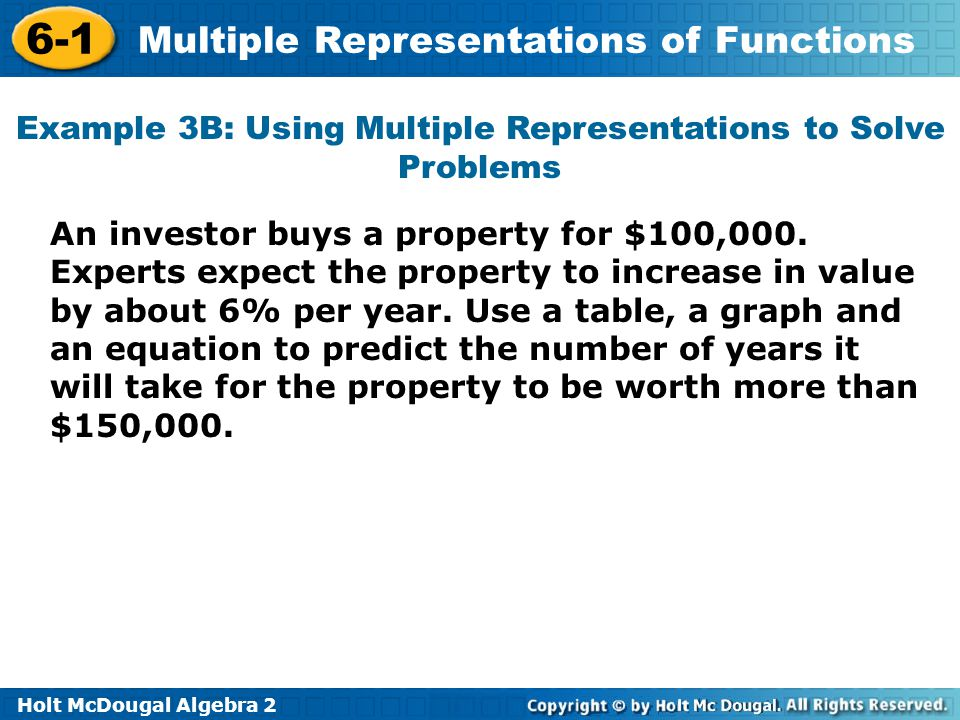 61 Multiple Representations of Functions Warm Up Lesson – Multiple Representations of Functions Worksheet