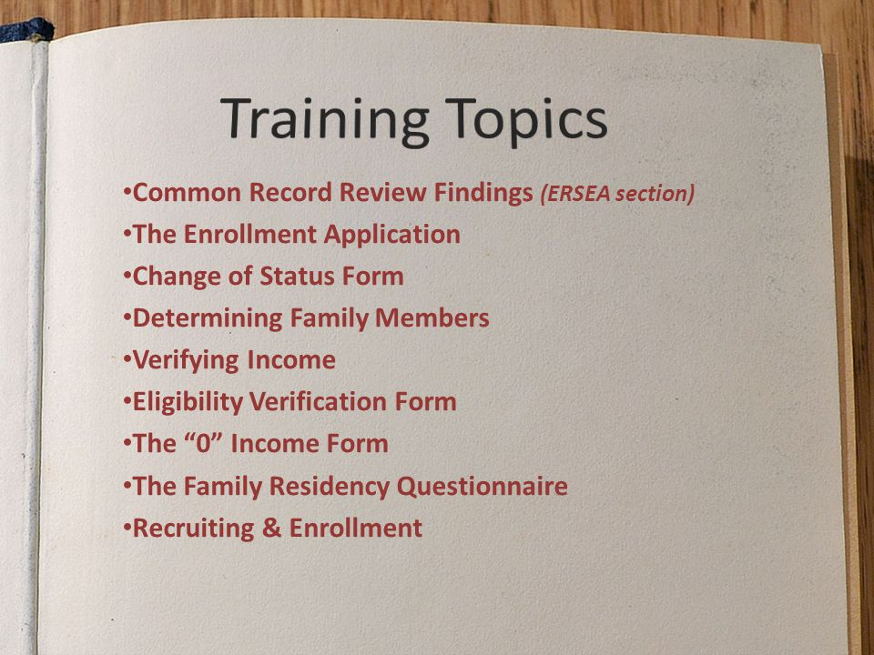 ERSEA Training For Office Staff - ppt download