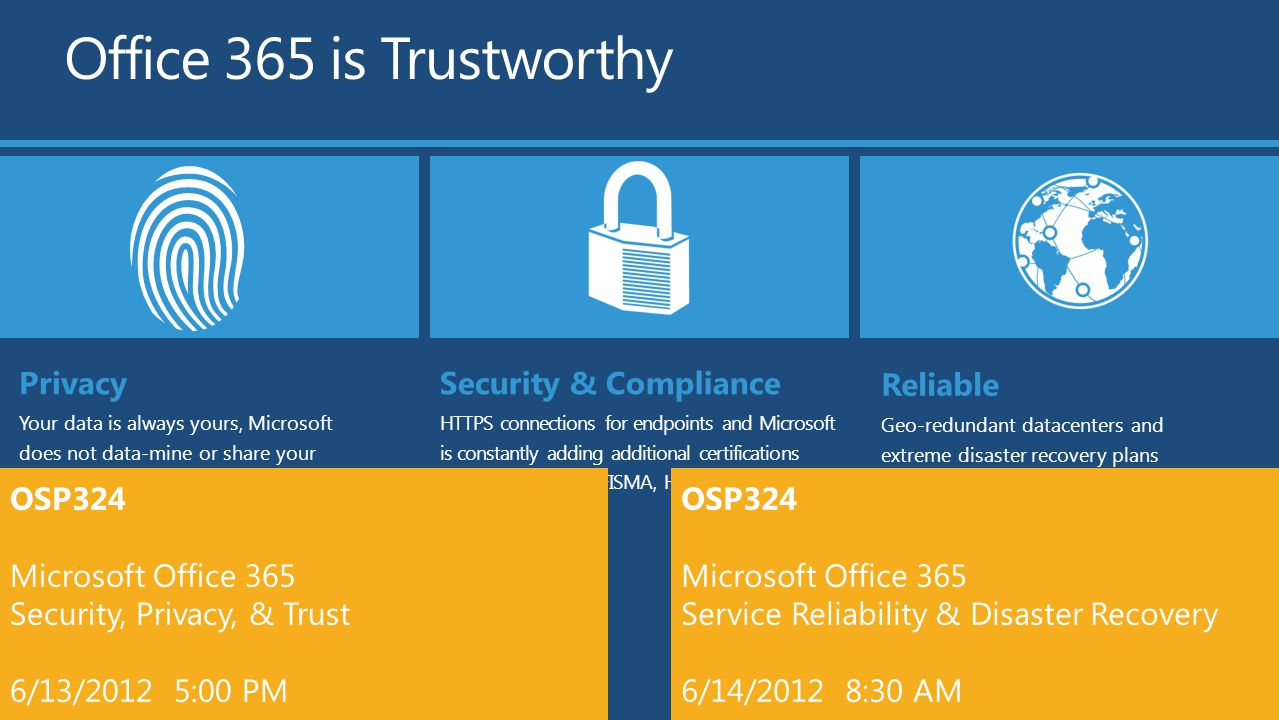 Office 365 security and compliance exchange online protection 02 - 8 Office 365 Is Trustworthy Privacy Security Compliance Reliable