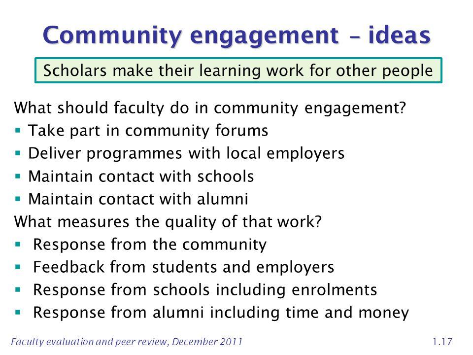 Community engagement – ideas