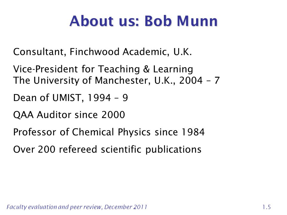 About us: Bob Munn Consultant, Finchwood Academic, U.K.