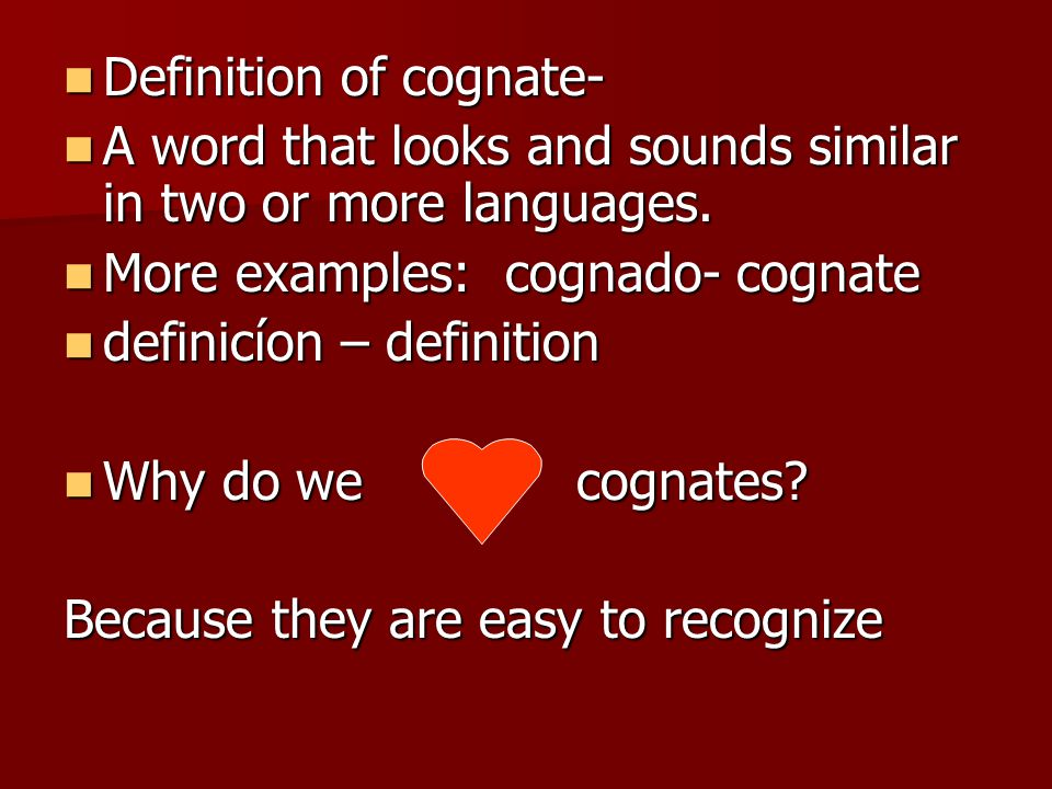 Definition of cognate-