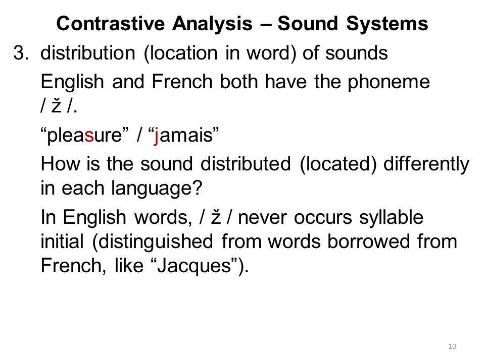 contrastive analysis english and torajanese pitch Narrowly defined, contrastive analysis investigates the differences between pairs  (or  monograph on teaching and learning english as a second language.