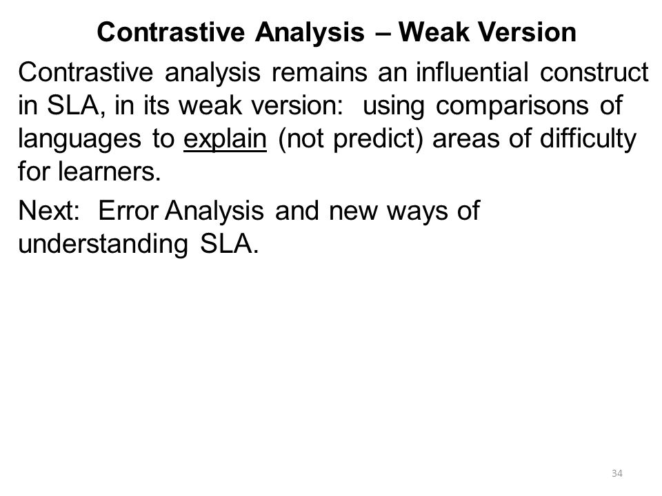 contrastive analysis and error analysis pdf