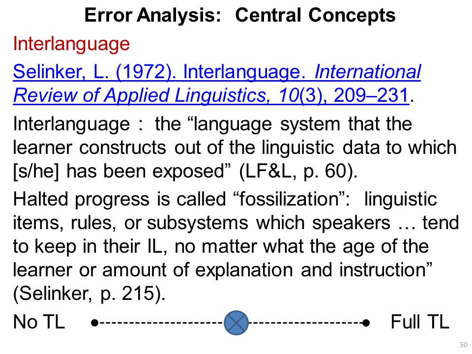 an analysis of the error in the english language Studying at the department of english language and literature to investigate   key words: error, mistake, error analysis, interference, language transfer.