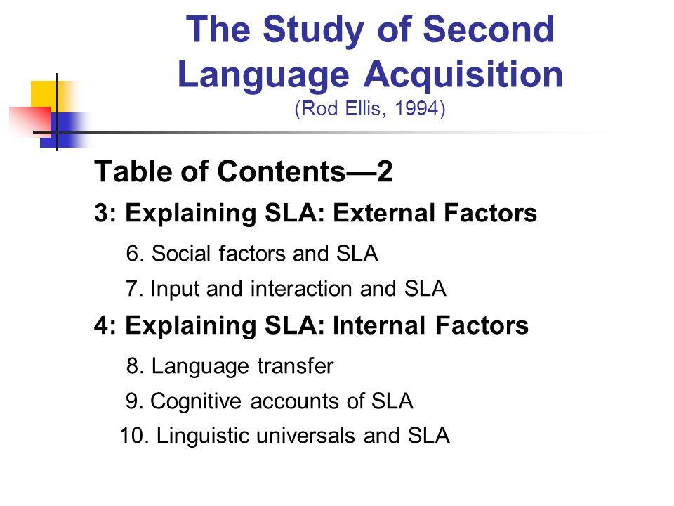 Rod ellis the study of second language acquisition