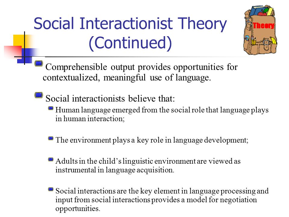 role of interaction in second language We conclude that the relationship between the contingencies of early social interaction and language acquisition is multi dimensional, and not ubiquitously designed to facilitate language learn ing perse akmajian, a & heny, f (1975.