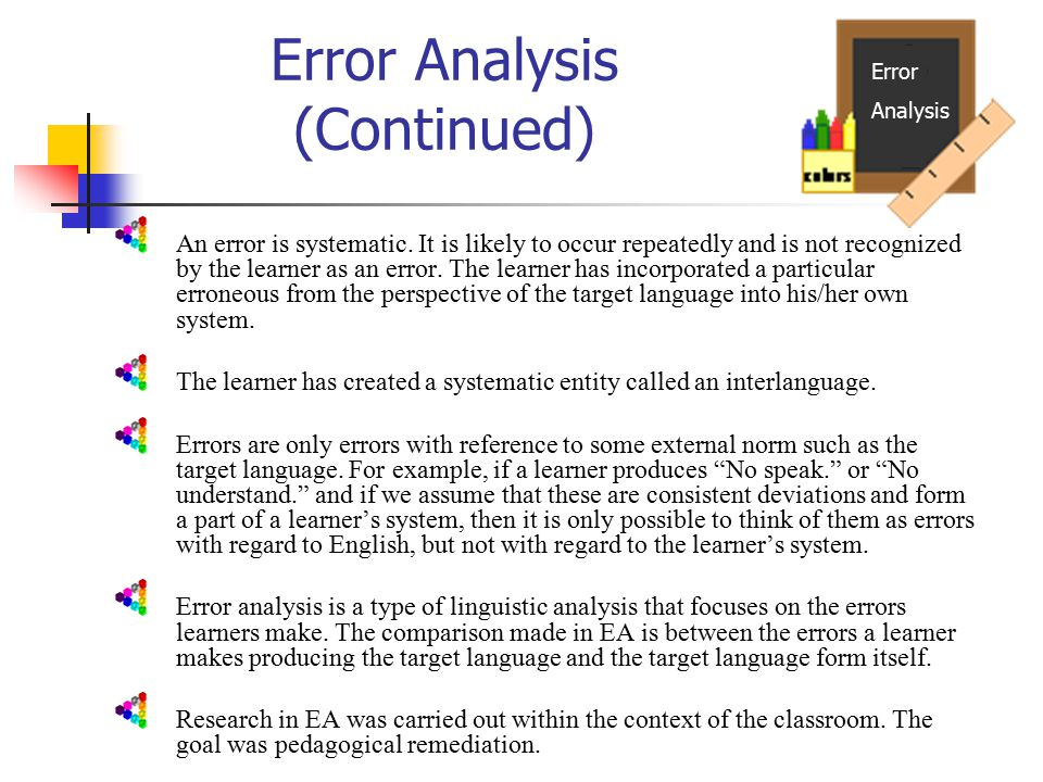 error vs mistake in language learning