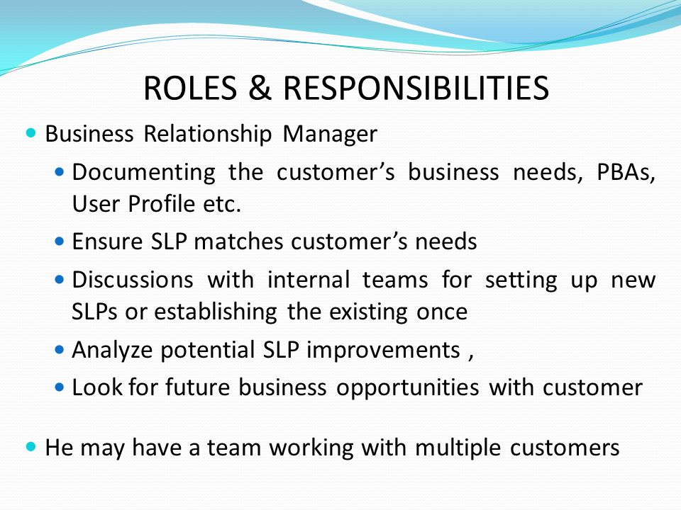 roles and responsibilities of a client relationship manager