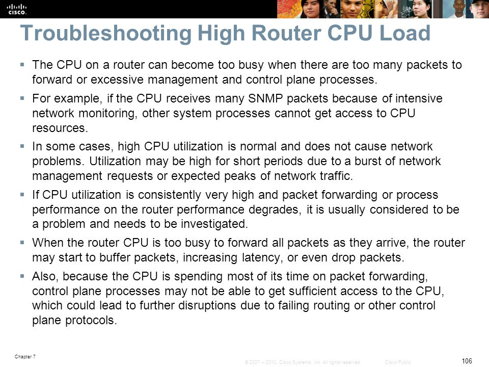 Troubleshooting High Router CPU Load