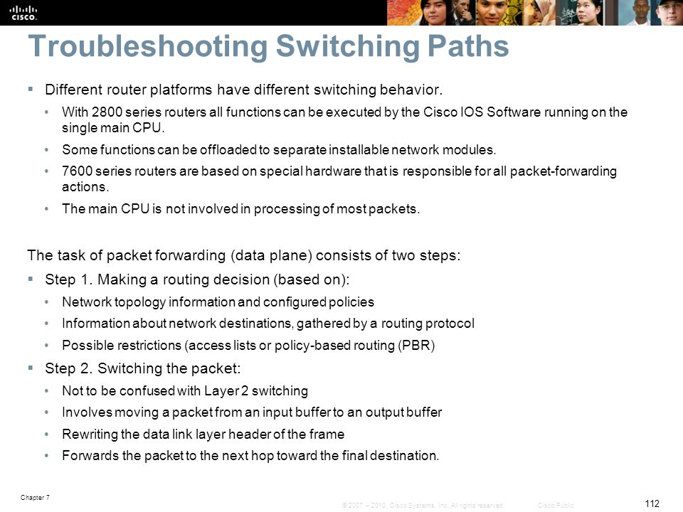 Troubleshooting Switching Paths