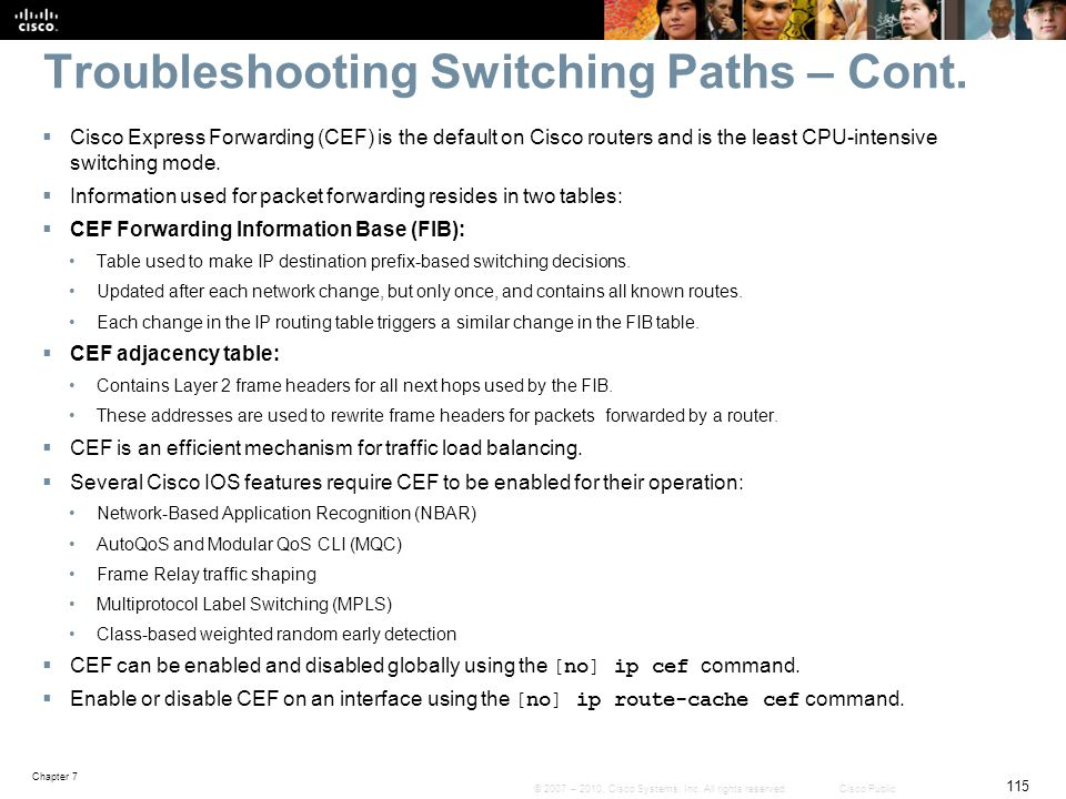 Troubleshooting Switching Paths – Cont.