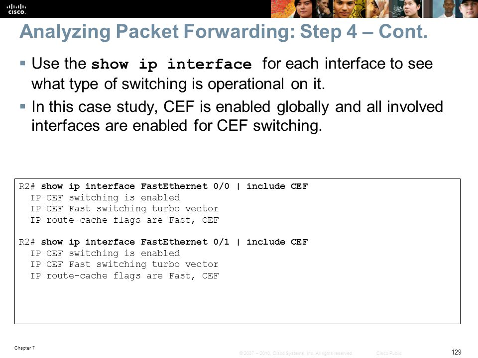 Analyzing Packet Forwarding: Step 4 – Cont.