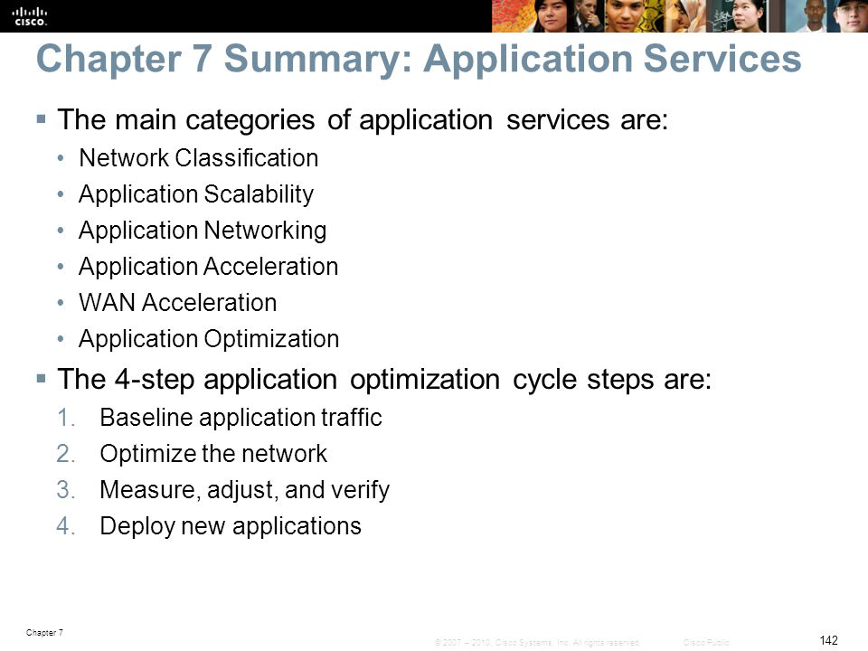 Chapter 7 Summary: Application Services